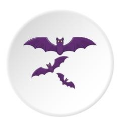 Bats icon cartoon style vector