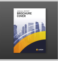 business brochure cover design layout vector image