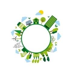 Green idea and ecology design vector
