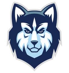 husky dog head mascot vector image vector image