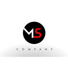 ms logo letter design vector image vector image