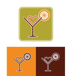 summer coctail icon vector image vector image