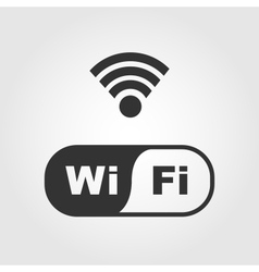 Wi fi icons flat design vector image vector image