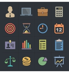 Business Flat Metro Style Icons vector image vector image