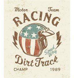 Dirt track racing vector image vector image