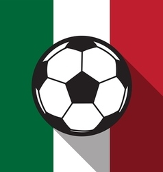 football icon with Mexico flag vector image vector image