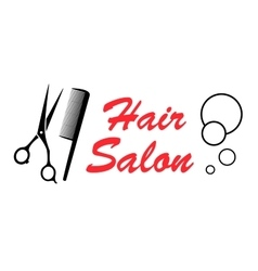 hair salon icon vector image