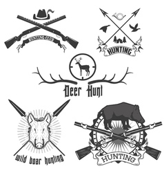 hunting club2 vector image