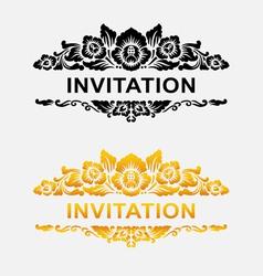 Invitation floral ornament decoration vector image vector image
