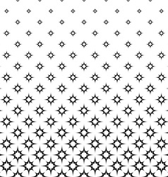 Seamless monochrome star pattern vector image
