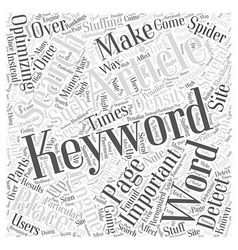 The Importance of Keywords Word Cloud Concept vector image vector image