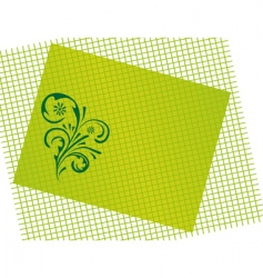 abstract green background with curls vector image