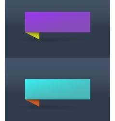 Banner Purple vector image vector image