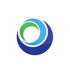 circle abstract business logo image vector image