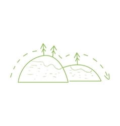 Hiking In The Mountains Simple Map vector image vector image
