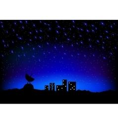 night sky city scape vector image