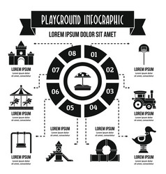 Playground infographic concept simple style vector
