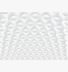 3d realistic geometric symmetry white and gray vector image
