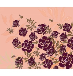 Abstract roses composition flower vector