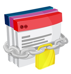 Application Chain Lock Safety vector image