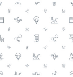 application icons pattern seamless white vector image