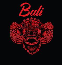 Balinese barong mask vector