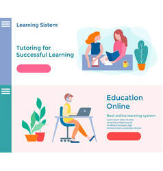 banners of concept online education educational vector image