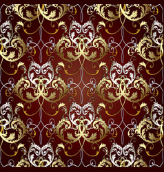 baroque floral vintage seamless pattern vector image