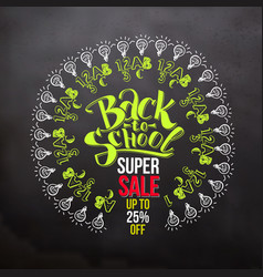 bright back to school super sale vector image