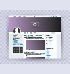 browser interface twitter mocuk up website vector image