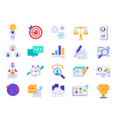 business icons company startup corporate goals vector image