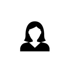 Businesswoman character avatar flat icon vector