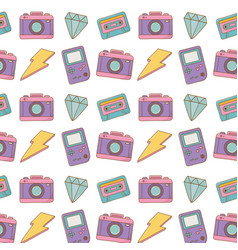 Camera game boy lighting background vector