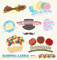 Carnival and Fair Labels vector