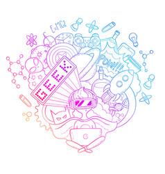 Cartoon doodle background vector