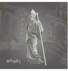 Cartoon image of ancient sculpture vector