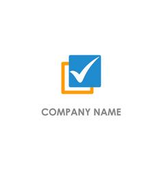 Check mark vote logo vector