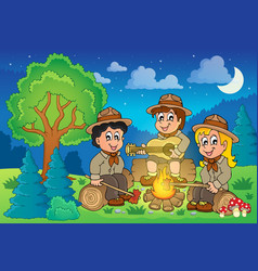 Children scouts theme image 2 vector
