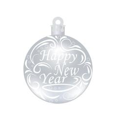 Christmas New Year festive inscription on a vector image