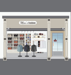 Clothing store for men vector