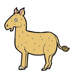 Comic cartoon mule vector