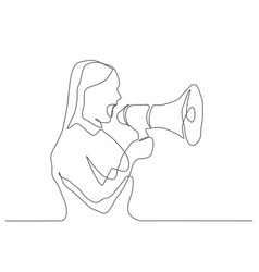 communication one line drawing vector image