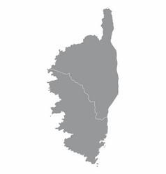 Corsica departments map vector