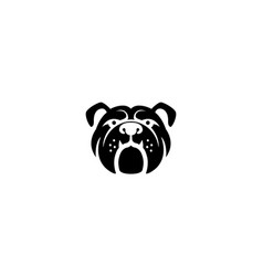 creative bulldog pet head symbol logo vector image
