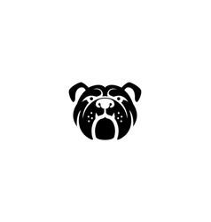 Creative bulldog pet head symbol logo vector