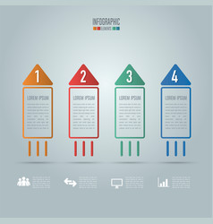 Creative concept for infographic rocket shape vector