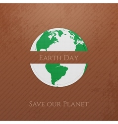 Earth Day Planet realistic Banner vector image