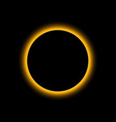 Eclipse solar total sun moon planet vector
