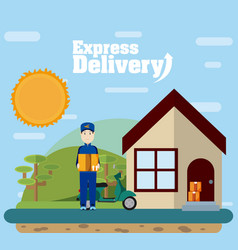 express delivery service vector image