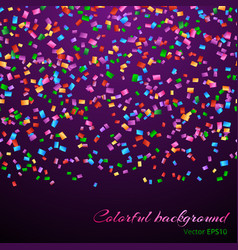 Falling confetti decoration vector